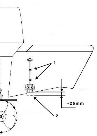 fixation sonde echosondeur